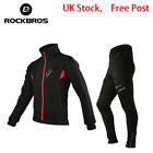 UK Stock Winter Cycling Thermal Warm Windproof Suits Cycling Jacket & Pants New