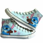 Lilo and Stitch Pattern Women Men Hand-painted Canvas Shoes for Girl Boy Sneaker