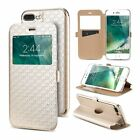 WINDOW VIEW CARD FLIP LEATHER CASE FOR SAMSUNG A3 A5 J3 J5 J7 PRIME 2017 2016