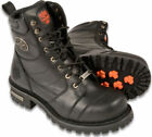 Milwaukee Leather Men's Motorcycle Boot with Laces-MBM9030