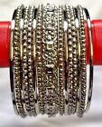 set of  15  silver tone indian  bangles *new latest design*