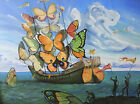 Salvador Dali - Butterfly Sails Print Poster Giclee