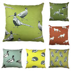 "Wild Animal 100% Cotton Cushion Covers, 16"" x 16"", Double Sided, Made in UK"