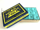 12 Pieces GREEN Genuine Triangle Snooker or Pool Cue Tip Chalk - by Tweeten  USA