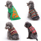 Xmas Theme Warm Pet Clothes Dog Cat Knitted Sweater Dog Supplies Clothing Shoes
