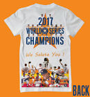 2017 Champions Houston Astros front/back shirt - over 30 players on shirt LOOK!!