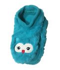 Women Teal Owl Slipper Socks Footies House Shoes Furry Snoozies Lightweight