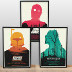 STAR WARS POSTERS - A3 A4 size Quality Movie Prints vintage Olly Moss Design £6.99 GBP