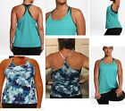 NWT Nike Tank Top Racerback 1X,2X,3X Plus Size blue DRI FIT