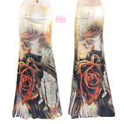 Women's LONG SKIRT Plus Size Rose Floral Note Music Maxi S/M/L/XL/1XL/2XL/3XL