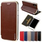 For iPhone X 8 7 6S Plus Slim Leather Wallet Card Phone Case Magnetic Flip Cover