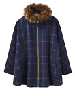 JOULES Contessa Tweed Cape Poncho  Navy Check Sz M L XL RRP£259 Free UK P&P