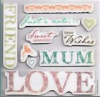 Papermania Urban Stamps - Vintage Notes (Sentiments)