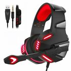 3.5mm Gaming Headset MIC LED Surround Headphones for PC Laptop PS4 Xbox One 360