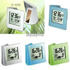Multi-function Solar/Battery Powered LCD Digital Bedside Alarm Clock Silent