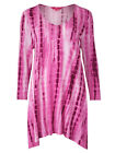 BRAND NEW TOGETHER PINK TIE DYE DIPPED SIDES TUNIC TOP IN SIZES 14-26