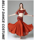 Sexy 2017 New Lace Belly Dance Costumes 2pics Off Shoulder Top & Long Skirt M L
