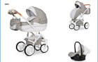 RIKO BRANO LUXE PRAM 3in1 CARRYCOT + PUSH CHAIR + CAR SEAT + EXTRAS !!! <br/> Rain cover+Large diaper bag+Hands warmer+Mosquito net