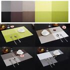 4pcs Vinyl Dining Table Place Mats PVC Placemat Heat Insulation Pad Weave Woven