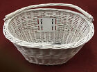 "Premier Wicker 16"" Front Basket with Q/R Handlebar Bracket (Colour Option)"