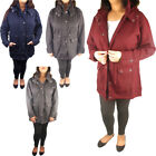 Womens Ladies Parka Plus Size Fleece Jacket Trench Coat Faux Fur Hooded Coat