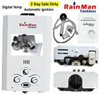 Rain Man L6 Tankless Water Heater Liquid Propane 2.0 GPM Digital Temp + Vent Kit