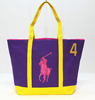 RALPH LAUREN THE BIG PONY COLLECTION WOMENS PINK #2 OR PURPLE #4 BEACH/TOTE BAG