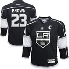 Reebok Dustin Brown Los Angeles Kings Youth Black Replica Player Hockey Jersey