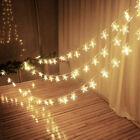 Us Warm White Led String Star Fairy Lights Home Bedroom Newyear Party Decoration