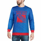 New York Rangers Blue Static Rain Printed Sweater - NHL