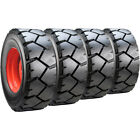 Set of Carlisle 12x16.5 Ultra Guard LVT Skid Steer Tires and Wheels - Bobcat
