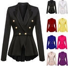 Women's Casual Work Office Blazer Solid Color Draped Asymmetric Slim Jacket Coat