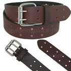 "Dickies Leather Belt Mens 1.5"" Leather Double Prong Bridle Belt Black, Brown"
