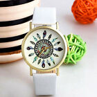 Fashion Vintage Womens Casual Watch Feather Quartz Analog Unique Wrist Watches