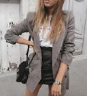 GORGEOUS ZARA DOUBLE BREASTED CHECKED BROWN BLAZER JACKET XS M L 6 8 10 12 LASTS