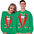 Matching Christmas Tuxedo Sweater Couples Matching Ugly Christmas Sweater