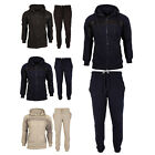 Mens Tracksuit Set Fleece Hoodie Top Bottoms Jogging Joggers Gym Fashion MESH