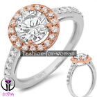 2.30Ct VVS1 Round DIAMOND 14K WHITE GOLD Promise Halo Ring Engagement CHRISTINE