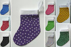 SMALL CHRISTMAS STOCKING - Star Print - Choose From Selection