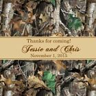 Camouflage Personalized Bridal Shower and Wedding Stickers