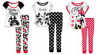 Ladies Womens Character Pyjamas Mickey And Minnie Set Novelty Disney Pyjama Set