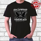 New Hollywood Undead Logo Rap Rock Band Men's Black T-Shirt Size S to 3XL