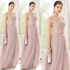 Chiffon Evening Party Ball Gown prom Long Bridesmaid Dress UK Stock Size 8-20