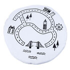 Baby Round Carpet Playing Mat World Map Floor Cotton Kid Crawling Pad Rug Cute