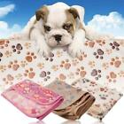 Hot Warm Soft Blanket Cushion Pet Mat Small Large Paw Print Pet Fleece