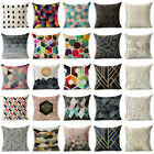 Cotton Linen Abstract Geometric Sofa Waist Cushion Cover  Pillow Case Home Decor image