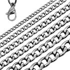 Stainless Steel Chain Necklace Bracelet Link Men Women Jewelry Small or Massive