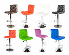 Pair of bar stools PU leather with chrome base and foot rest #x017