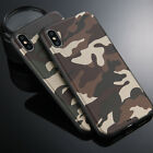 For iPhone X 6 7 Plus Camouflage Slim Full Cover Shockproof  Camo TPU Phone Case