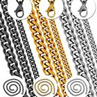 One Stainless Steel Chain Necklace Massive Chain Link Men Jewelry